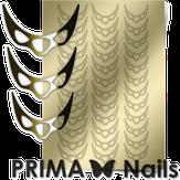Prima Nails Металлизированные наклейки CL-007, Золото