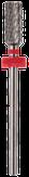 Irisk Фреза твердосплавная Т-21 (цилиндр), красная (мелкая зернистость)