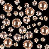 Irisk Стразы микс цветов и размеров в баночке, № 07 Lt. Peach