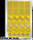 """Prima Nails Трафарет для дизайна ногтей, """"Иллюзия"""""""