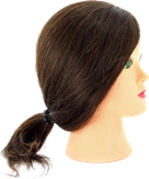 Dewal Голова учебная натуральные волосы, цвет шатен 30-40 см. M-2023M-6