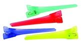 Dewal Зажимы для волос цветной, пластик 6 см. 12 ш/уп CL2521