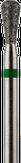 Владмива Фреза алмазная, обратный конус, D3,3 мм. зеленая, грубая зернистость 806.239.534.033