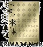 Prima Nails Металлизированные наклейки W-02, Золото