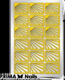 "Prima Nails Трафарет для дизайна ногтей, ""Лучи солнца"""