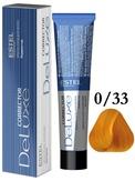Estel Professional De Luxe Крем-краска корректор для окрашивания волос желтый 0/33, 60 мл.