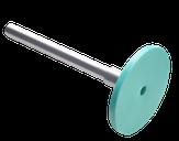 Сталекс Диск педикюрный пластиковый PODODISC STALEKS PRO S в комплекте с сменным файлом 180 грит 5 шт (15 мм)
