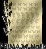 Prima Nails Металлизированные наклейки BF-01, Золото