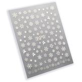 BPW Style Наклейки для ногтей Серебряные снежинки