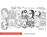Lucky Rose Слайдер-раскраска Stencil Coloring-10
