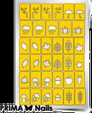 """Prima Nails Трафарет для дизайна ногтей, """"Осень"""""""