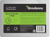 BrowXenna Патчи гидрогелевые увлажняющие, золотистые 1 пара