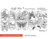 Lucky Rose Слайдер-раскраска Stencil Coloring-6