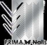 Prima Nails Металлизированные наклейки CL-003, Серебро