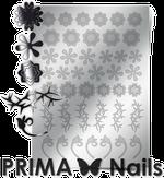Prima Nails Металлизированные наклейки FL-01, Серебро