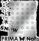Prima Nails Металлизированные наклейки W-01, Серебро