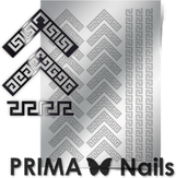 Prima Nails Металлизированные наклейки OR-007, Серебро