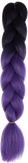 HIVISION Канекалон для афрокосичек черный/темно-фиолетовый # 18