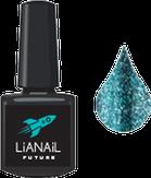 """Lianail Гель-лак с эффектом жидкой фольги """"Green Flash"""", 10 мл."""