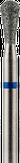 Modelon Фреза алмазная, обратный конус, D3,3 мм. синяя, средняя зернистость 806.239.524.033