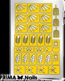 "Prima Nails Трафарет для дизайна ногтей, ""Перышки"""