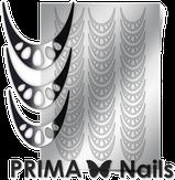Prima Nails Металлизированные наклейки CL-006, Серебро