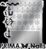 Prima Nails Металлизированные наклейки SEA-001, Серебро