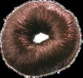 Dewal Валик для прически, искусственный волос, коричневый d8 см. HO-5115 Brown