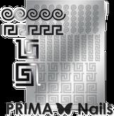 Prima Nails Металлизированные наклейки OR-004, Серебро