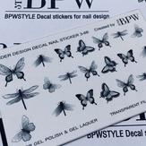 BPW Style Слайдер дизайн градиент Черные бабочки