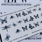 BPW Style Слайдер дизайн градиент Черные бабочки, sd6-68b