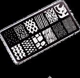 ONIQ Пластина для стемпинга Echo: Line Art #2