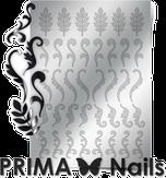 Prima Nails Металлизированные наклейки FL-04, Серебро