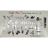 Lucky Rose Слайдер-дизайн Foil Colour silver-21