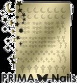 Prima Nails Металлизированные наклейки W-03, Золото