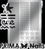 Prima Nails Металлизированные наклейки SEA-003, Серебро