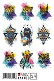 MILV Переводные татуировки 34