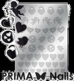 Prima Nails Металлизированные наклейки LV-02, Серебро