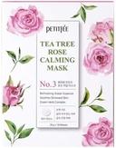 Petitfee Tea Tree Rose Calming Mask Тканевая маска с экстратами чайного дерева и розы