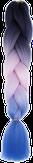HIVISION Канекалон для афрокосичек черный/розовый/сиреневый # 42