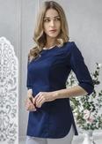 Лечи Красиво! Блуза женская 118 (сатори), размер 48, цвет синий-2