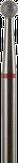 Владмива Фреза алмазная шар, D2,7 мм. красная, мягкая зернистость 806.001.514.027