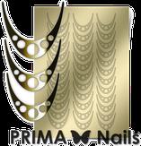 Prima Nails Металлизированные наклейки CL-005, Золото
