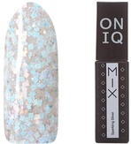 ONIQ Гель-лак для ногтей плотный MIX: Sparkling Silver OGP-094s