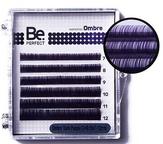 BePerfect Цветные ресницы Ombre Dark Purple MIX 6 линий (D/0,10/7-12)