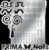 Prima Nails Металлизированные наклейки OR-006, Серебро