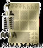Prima Nails Металлизированные наклейки W-04, Золото