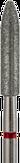 Modelon Фреза алмазная цилиндр заостренный, D3,1 мм, красная, мелкая зернистость 806.274.514.031