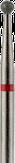 Modelon Фреза алмазная шаровидная, D2,3 мм. красная, мягкая зернистость 806.001.514.023