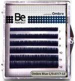 BePerfect Цветные ресницы Ombre Blue MIX 6 линий (D/0,07/7-12)